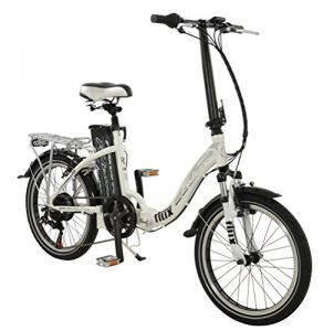 20″ Flux Electric BIKE – Low Step Folding e-bike Bicycle FALCON (Mens) in SILVER