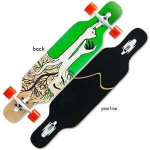 MEI Skateboard Skateboard Downhill Skateboard Children Four Round Long Board Riding Dance Board Skateboard Maple Wood Skateboard Skating Beginners,I