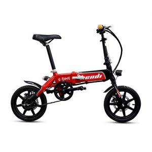 MIRACLEM Foldable Electric Bicycle -250W Motor -36V 6.5Ah Hidden Battery -14″ Lightweight E-Bike