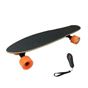 Children 4 wheel Electric Skateboard Sport Long Board Retro Skateboard With Remote Control,LG Lithium-ion 2.2AH / 15km/h