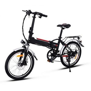 Beyove Outdoor Power Plus Electric Mountain Bike with Lithium-Ion Battery, Disc Brakes – Mechanical Sports Bicycle