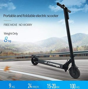 FREEGO Electric scooter Rechargeable Battery Kick Scooters with mileage 15 to 20km for adult and kids max speed 24km Lightweight Foldable