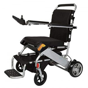 GJX Disabled Electric Wheelchair, Aluminum Alloy Automatic Intelligent Lithium Battery Old Scooter, Folding Trolley