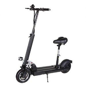 JAYE Two-Wheeled Adult Mini Electric Scooter,Seat Detachable Hight-Adjustable Easy-Folding Electric Skateboard Folding Bike Aviation Aluminum Alloy
