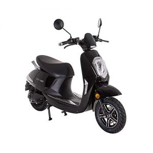 Lunex Electric scooter Adult Moped E-SCOOTER 1200W 27mph Retro Motorbike BLACK