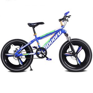 FJ-MC Unisex Suspension Mountain Bike Single Speed Children's Bicycle, 12″, 14″, 16″, with Double Disc Brake for Student, Child, Commuter City
