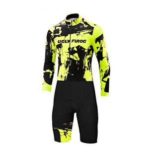 Uglyfrog Newest Men Skinuit Long Sleeve Cycling Shirts with Short Legs Set Breathable and quick-drying Bike Summer&Spring Triathlon Clothes