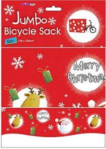 WOW Giant Christmas Bike Sack – Ideal for all Junior Bike Sizes