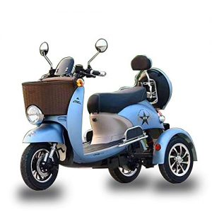 AA100 Electric 3 wheeler mobile scooter retro scooter old green environmental protection intelligent driving scooter 48V20A battery life 50 km