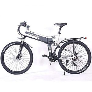 """Dapang Power Plus Electric Mountain Bike, 26"""" Electric Bike with 36V 10.4Ah Lithium-Ion Battery, Aluminum Frame with Mechanical Disc Brakes"""