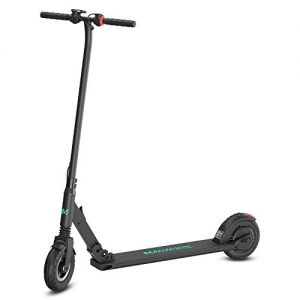 Macwheel Foldable Electric Scooter, 8″ Airless Foam Filled Tires, Powerful 300W Motor, Up to 24Km/h, Lightweight Folding Adult Electric Scooter for Commuting (MX2)