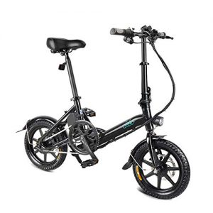 huangThroStore 1 Pcs Electric Folding Bike Foldable Bicycle Double Disc Brake Portable for Cycling