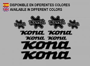 Ecoshirt GC-84YS-XIHC Stickers Kona Bike F131 Stickers Aufkleber Decals Autocollants Desivi, Black
