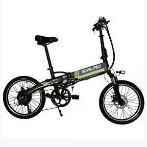 Augu Electric Folding Bike electric Bicycle 36V 8AH 20 inch Li-Battery Bike LCD meter with PAS level adjustment Disc Brakes Mens women adult
