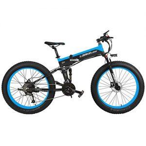 ZDDOZXC 26 Inch 1000W/500W Folding e Fat Bike,adopt 48V 10Ah/14.5Ah Lithium Battery,with Big Bike Computer, Pedal Assist Electric Mountain Bike Snow Bike