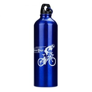 Kingko New Fashion Water Bottle Cycling Camping Bicycle Sports Hiking Running Aluminum Alloy Water Bottle 750ml Small Spout for Easy Drinking