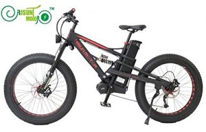 Mustang DNM Dual Suspension 48V 1000W 8Fun Mid-Drive Motor Electric Fat Bike with 26.1AH Li-ion Battery