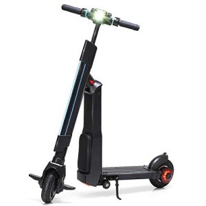DBSCD Foldable Electric Scooter, Adjustable Kick Scooter, with LED Light 36V Lithium Battery, Max Load Capability 220lbs 15.5MPH & Up to 12.5 Mile Range