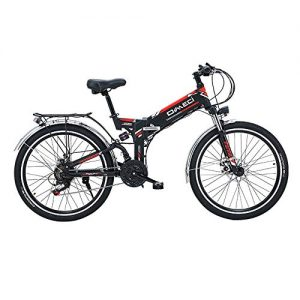 Wenore Electric Bicycle, 48V 10A Lithium Battery Folding Bicycle Mountain Bike E Bicycle 17 * 26 Inch 21 Speed Bicycle Smart Electric Bicycle City Riding And Commuting