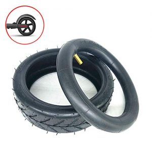 XULONG Electric Scooter Tires, 8 1/2X2 Thick Inner And Outer Tires, Rubber Inflatable Wear-Resistant Tires, Suitable for Millet M365 Tire Replacement