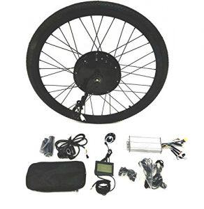 theebikemotor 36V500W Hub Motor Electric Bike Conversion Kit + Tire + LCD Display