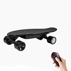 Mini Electric Skateboard 15km Long Range Top speed 25km/h 4 Wheels Electric Scooter Max Load 100kg With Remote Control Adults & Kids 58 * 20 * 10cm