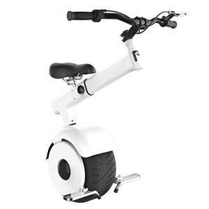 DBSCD 800W Folding Electric Scooter, One Wheel Self Balancing Smart Scooters Motor Electric Unicycle Brake System 550lbs Max Load Weight with 60V Lithium Battery,White,25KM