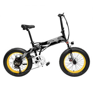 ZDDOZXC Electric Bicycle X2000 20 Inch Fat Bike Folding Electric Bicycle 7 Speed Snow Bike 48V 10.4Ah/12.8Ah 500W Motor Aluminium Alloy Frame 5 PAS Mountain Bike