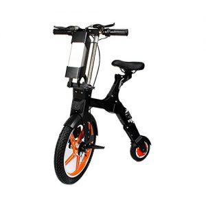 Lei HuanLeBao Unique Foldable 18 inch Front Wheel 8 inch Rear Wheel Electric Bike Scooter Folding Mini Electric Scooter , Orange