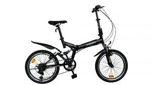 ECOSMO 20″ Folding Mountain Bicycle Bike 6SP SHIMANO-20SF02BL
