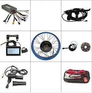 Free ShippingEbike Kit 72V 1500W Fat Tire Electric Bicycle Conversion Kits LCD Display Control 20″ Rear Motorized Wheel 4 Rim Colors