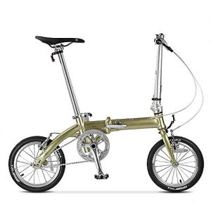 GUI-Mask SDZXCFolding Bicycle Aluminum Frame Single Speed Mini Fast Folding 14 Inch Ultra Light