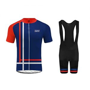 Uglyfrog UK National Flag Men's Summer Short Sleeve Cycling Suits Set with 3D Gel Padded Shorts/Bib Shorts For All Levels Of MTB Cyclist From Beginner To Pro DC-UKHDXJ04
