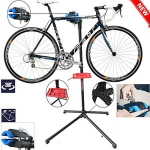TMZ Heavy Duty Bike Bicycle Maintenance Mechanic Repair Folding Work Stand Mountain Tool,Hold up to 40KG, Adjustable Height