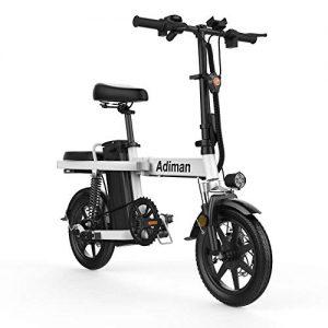 Suyanouz 14 Inch Folding Electric Bike Lithium Battery Electric Bicycle Light Driving Adult Battery Detachable Aluminum Alloy E Bike