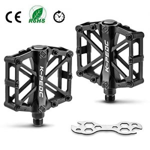 FORIZEN Bike Pedal, Bike Bicycle Pedals 9/16 inch Aluminum Antiskid Durable Moun tain Bike Pedals, MTB BMX Cycling Bicycle Pedals