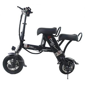 Suyanouz Folding Electric Bike 12 Inch Electric Bicycle Lithium Battery Electric Scooter Mini Small Bicycle Lightweight Folding Ebike