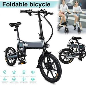 JIEHED Foldable Electric Bike, 1 Pcs Electric Folding Bike Foldable Bicycle Safe Adjustable Portable for Cycling,250W,25km/h max Speed,120kg Payload(Arrived 3-7 Days)