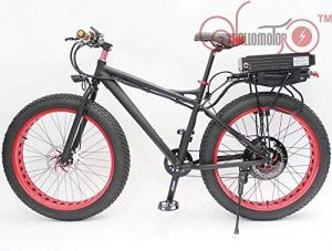 HYLH 48V 500W 26″ Fat Tire Wheel eBike Beach Cruiser Snow Electric Bicycle With 48V 20AH Rear Carrier Li-ion Battery Multi Colour Rim