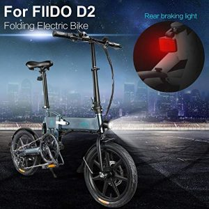 Prom-note FIIDO D2S Ebike Folding Electric Bicycle,250W 7.8Ah Foldable Electric Bike With Front LED Light 3 Work Modes Folding Disc Brakes Foldable Electric Bike With Bike Pedals For Adults Men Women
