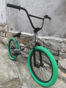 SWORDlimit 20 Inch Freestyle BMX Bike for Beginner To Advanced Riders, Full Crmo Frame, Chrome Molybdenum Steel 8 Key Crank+ 25T Sprocket Wheel+9T Card Shaft