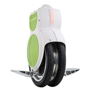 AIRWHEEL Q6 Electric Unicycle the Ultimate Twin Wheel Version with LED Lights and Kick Stand