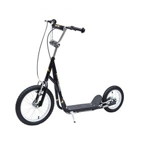 HOMCOM Adult Teen Push Scooter Kids Children Stunt Scooter Bike Bicycle Ride On Alloy Wheel Pneumatic Tyres