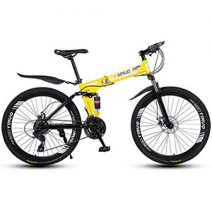 LIU 26-Inch Folding Mountain Bike Speed Change Double Vibration Absorber One Bicycle(21/24/27 speed)