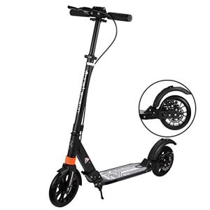 TINSAHW Two-wheeled unicycle,Mini Electric Scooters Ultra Lightweight Folding Adult Electric Scooter Solid Tires