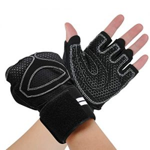 COTOP Workout Gloves for Men&Women, Training Gloves with Stretchy Wrist Band Support, Full Palm Protection for Weightlifting, Training, Fitness, Hanging, Pull ups, Cycling