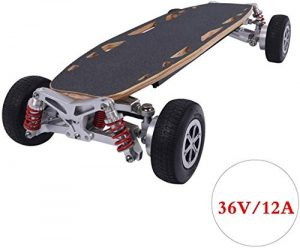 Wuyeti Off-Road Pro Skateboard with Remote Control, Professional Stunt Scooter, Dual engine radio remote control E skateboard, Integrated battery 1100 W engine up to 30 km range, 150 KG maximum load