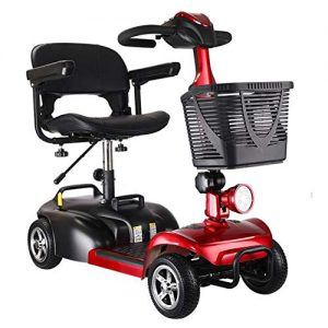 SHENXX Portable Folding Electric Four-Wheeled Vehicle Elderly Scooter Leisure 4 Wheel Electric Scooter Adult 180W 12AH Endurance 60Km