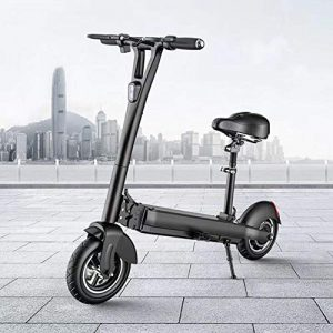 FJNS Electric Folding Bike, 400W 7.8Ah Folding Electric Bicycle, LED display Aluminum Alloy 10 Inch, for Adults Commuting & Leisure Compact eBike