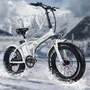 SHIJING EUR Stock Fat Tire 2 Wheel 500W Electric Bike Folding Booster Bicycle Electric Bicycle Cycle Foldable aluminum50km/h